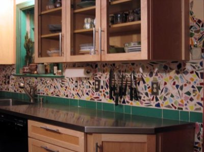 Mosaic Tile Backsplash Mosaic Kitchen Slate Backsplash