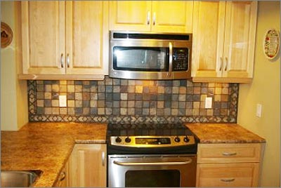 Slate Tile Backsplash Picture