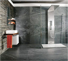 Merveilleux Black Slate Bathroom Tiles