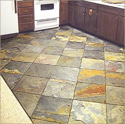 Slate Stone Flooring in Kitchen