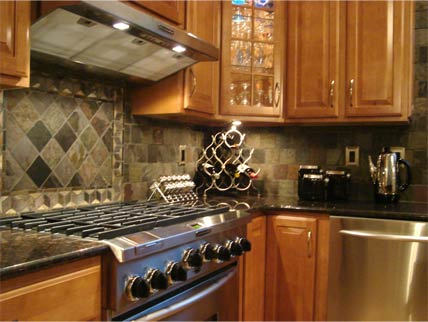Kitchen Remodeling Slate Tiles for Backsplash
