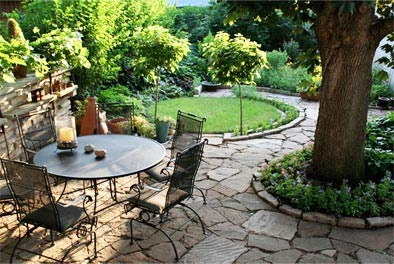 Outdoor Landscaping with Slate Stone