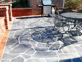 Irregular Slate Stone Patio Floor