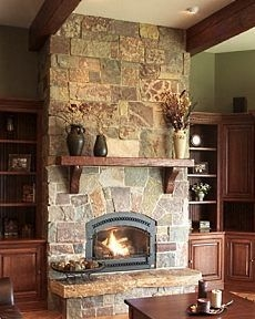 Rough Slate Fireplace