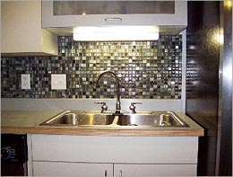 Installing Slate Backsplash