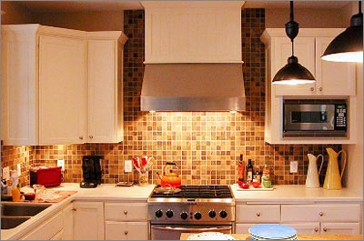 Multi Color Slate Backsplash
