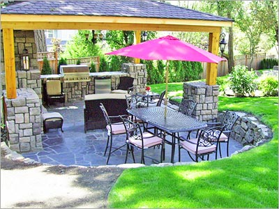 Slate Landscaping-  Slate Patio