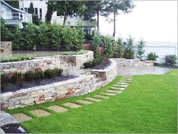 Slate Wall Landscaping