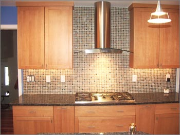 Glass And Slate Mosaic Backsplash