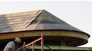 Slate Roof Tiles on Conical Slate Roofs