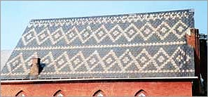 Patterned Roofing Slate Style