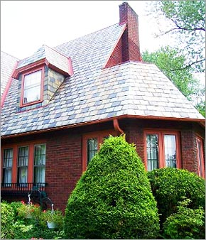Two Colored Slate Roof