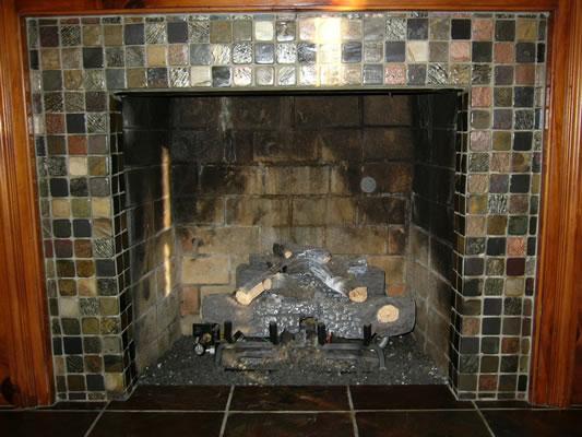 Slate Tile Fireplace