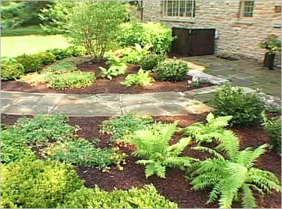 garden decor with slate walkway – slate landscaping ideas
