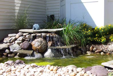 Slate Waterfall for Garden Landscaping