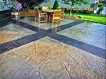 Patio with Slate Stone Floor