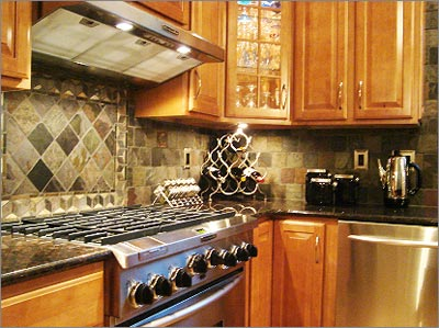 Slate Tile Backsplash
